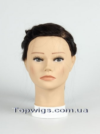 Тренировочная голова, натур. волосы