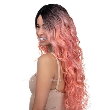 Розовый парик Erin (термоволосы)