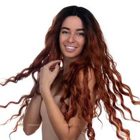 Длинный парик на сетке Hilda Lace