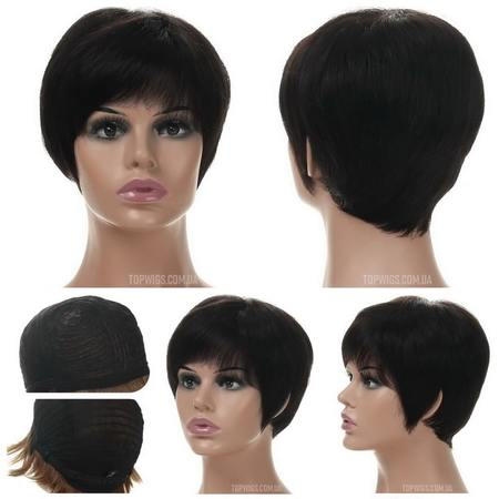 Короткий натуральный парик Silvia HH